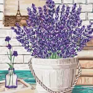 schilderen op nummer lavendel aroma