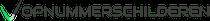 op nummer schilderen logo